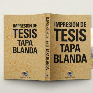Tesis Tapa Blanda